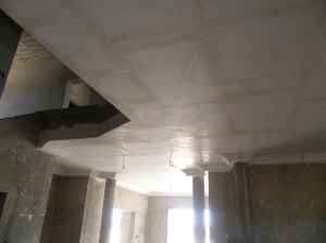 Plasterwork in the Foyer and entry