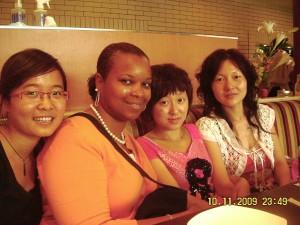 Jamie, Jessery (translators) and Snow (manager) Guangzhou Pizza Hut